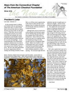 Winter 2018 Newsletter Cover