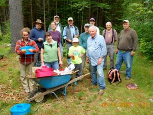 Mosher Orchard inoculation crew, Summer 2013.