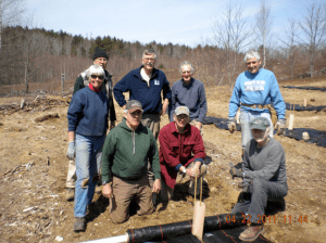 Planting crew at the Rowe Orchard in South Hope.