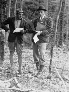Lincoln Foster and Dr. Arthur H. Graves at Great Mountain Forest photo courtesy of GMFC Archives