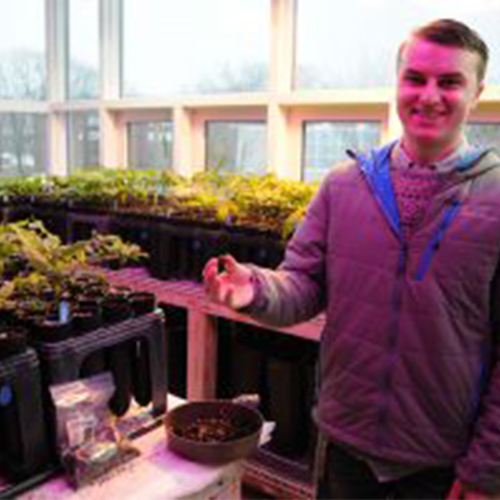UNE environmental science student Matt Organ.
